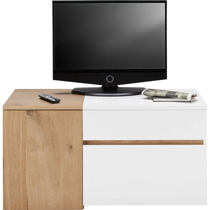 TV Element In Eiche Und Weiss