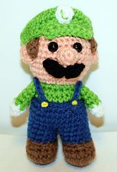 """This Mini Green Gamer Friend, inspired by Luigi is the perfect companion for that special little game-loving boy or girl in your life! He is 5"""" tall and just perfect to hold in your hand!"""
