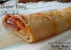 Super Easy Stromboli My entire family loves these stromboli. I especially love love them because they are so super easy and are done in less than 30 minutes. You can even freeze them for later or...