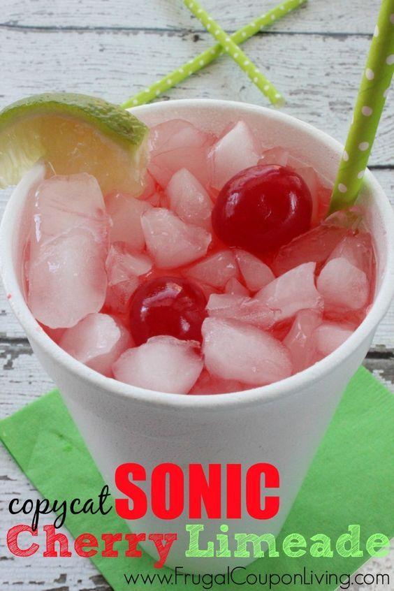 Copycat Sonic Cherry Limeade Recipe – Famous Drive-In Beverage #recipe #sonic #copycat #cherrylimeade