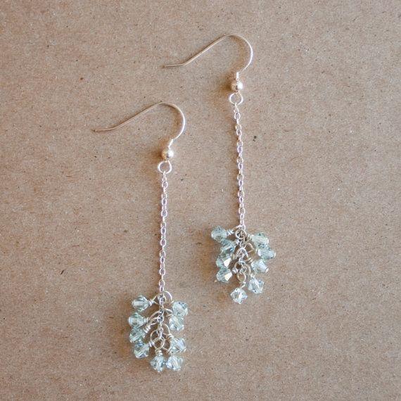 CRYSTAL DROP Sterling Silver Earrings   sarahmiller.co