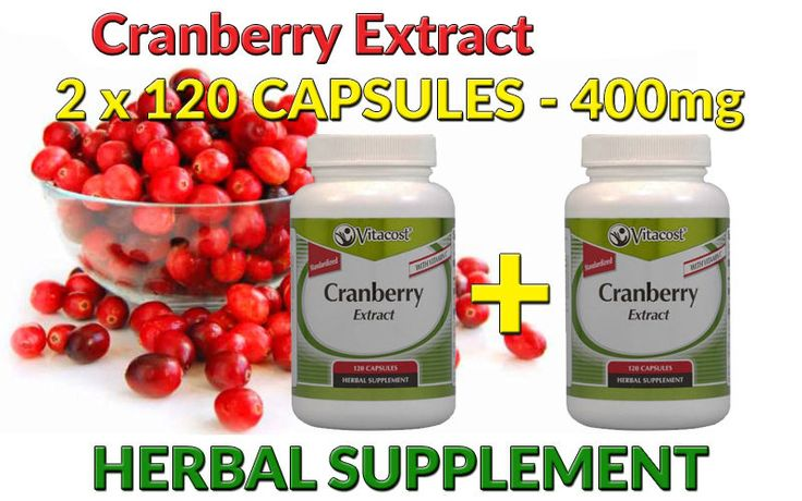 Cranberry Extract Plus Vitamin C - 400mg - 2 x 120 Capsules  - FREE SHIPPING  #Vitacost