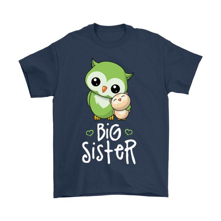 Funny Owls Big Sister T-Shirt For Men Women Kids