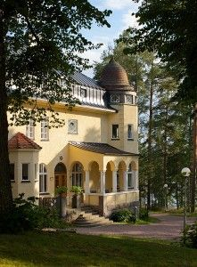 The Rantalinna Mansion, one of Finland's most beautiful mansions in jugend style from 1912. Situated in the Lake District of Saimaa. Today a hotel.