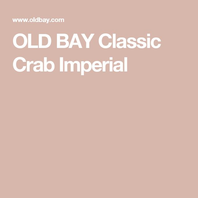 OLD BAY Classic Crab Imperial