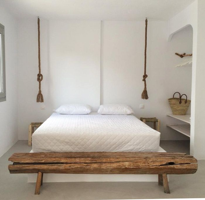 In the village of Koutouloufari on the Greek island of Crete sits Villa Zoé, a small boutique hotel made from two old restored Cycladic houses