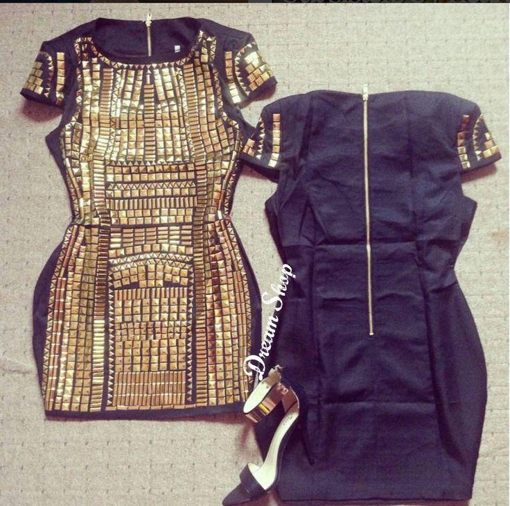 Per le amanti delle borchie, questo pezzo non può mancare nel vostro guardaroba 😍❤️‼️ ✦ pagamento anche alla consegna ✦ resi e cambi ✦ acquista online qui: dream-shop.it/vestitini.html  #vestito#dress#borchie#oro#gold#abito#sexy#cool#fashion#dreamshop#dorato
