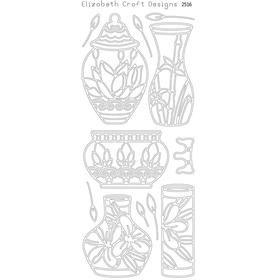 Asian vases (sku 2516) - ElizabethCraftDesigns.com