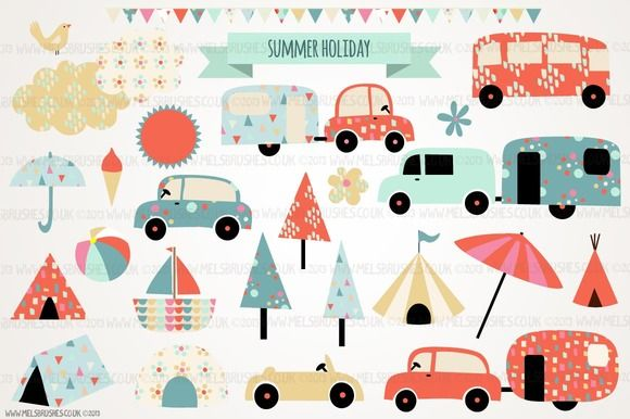 Illustrations ~ Summer Holiday by MelsBrushes ~ Creative Market