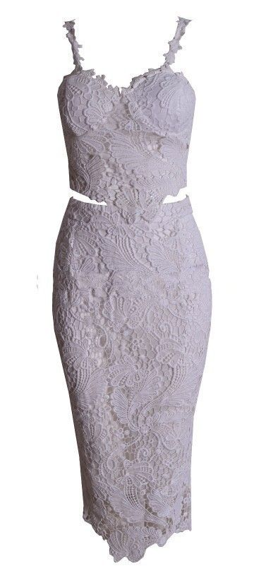 2014 New Fashion High Quality black And White Flower Lace 2 Two Piece Dress Wholesale Knee Length Sexy Midi Bodycon Dress-in Dresses from Apparel & Accessories on Aliexpress.com | Alibaba Group