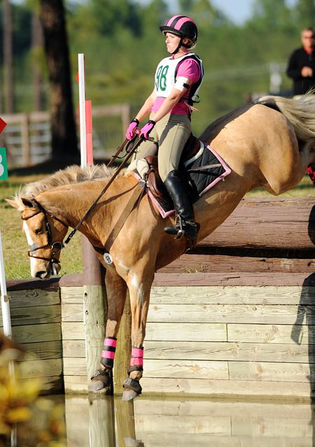Horses jumping cross country - photo#51