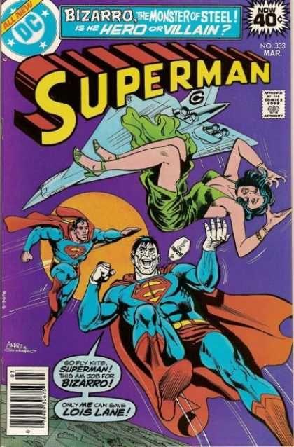 Dc Comics - Bizarro The Moster Of Steel - Airplane - Moon - Lois Lane - Dick Giordano, Ross Andru
