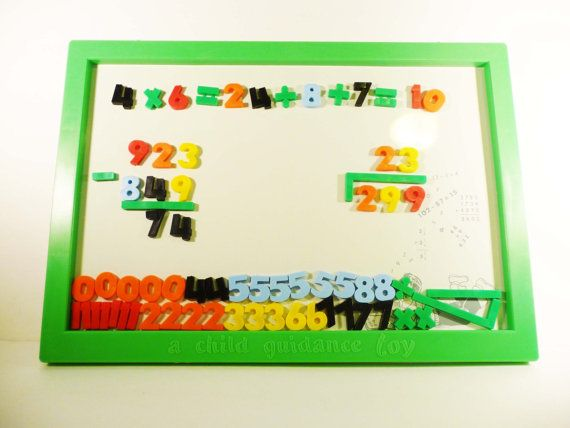 Teach a Tot Magnetic Board Kids In Box by amBeRliinA on Etsy