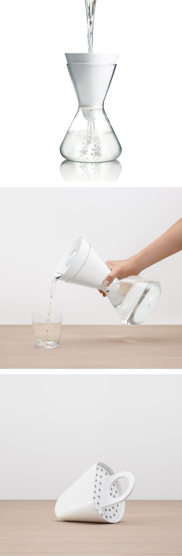 Soma water filter carafe // one of the most elegant product designs in its class #product_design #industrial_design