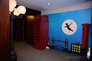 Corporate themed peter pan holiday party