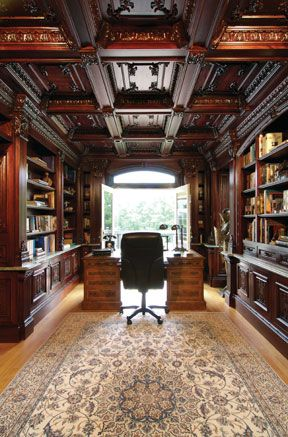 In my dreams! Beautiful office / library