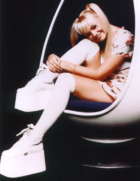 White Platform Shoes Baby Spice
