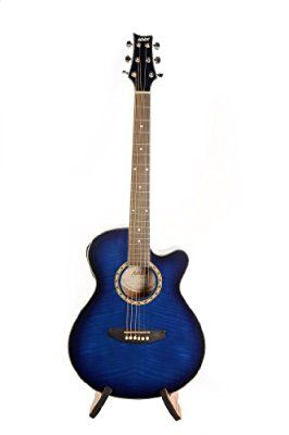 Ashton SL29CEQ Slim-Line Electro-Acoustic Guitar - Blue: Amazon.co.uk: Musical Instruments