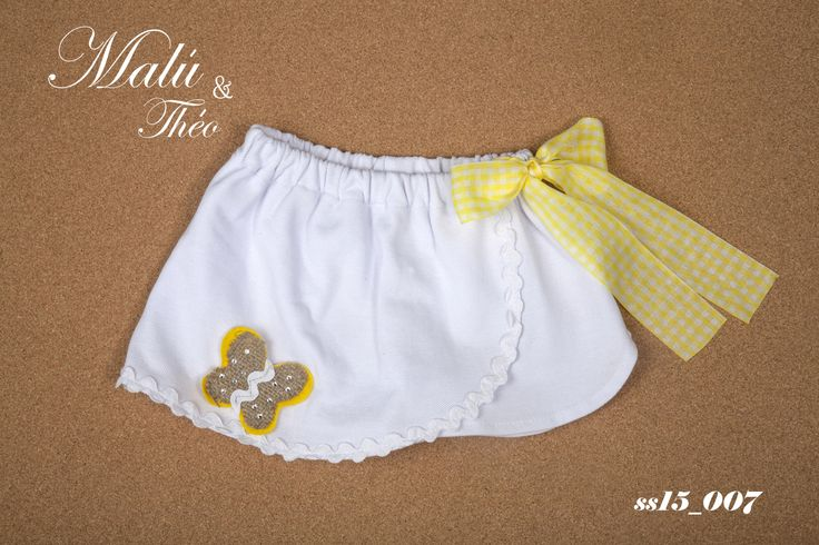 Pique skirt-shorts with swarovski elements - Italian Style for kids