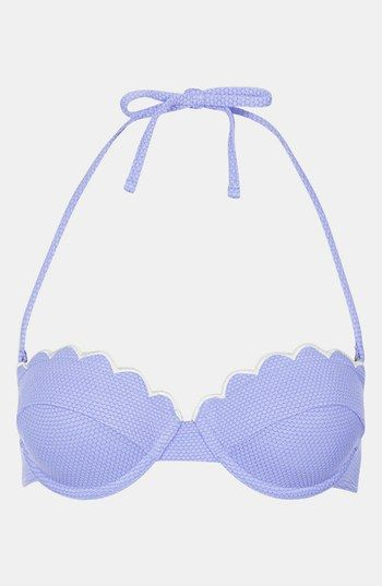 Topshop 'Cornflower' Scalloped Bikini Top   Nordstrom