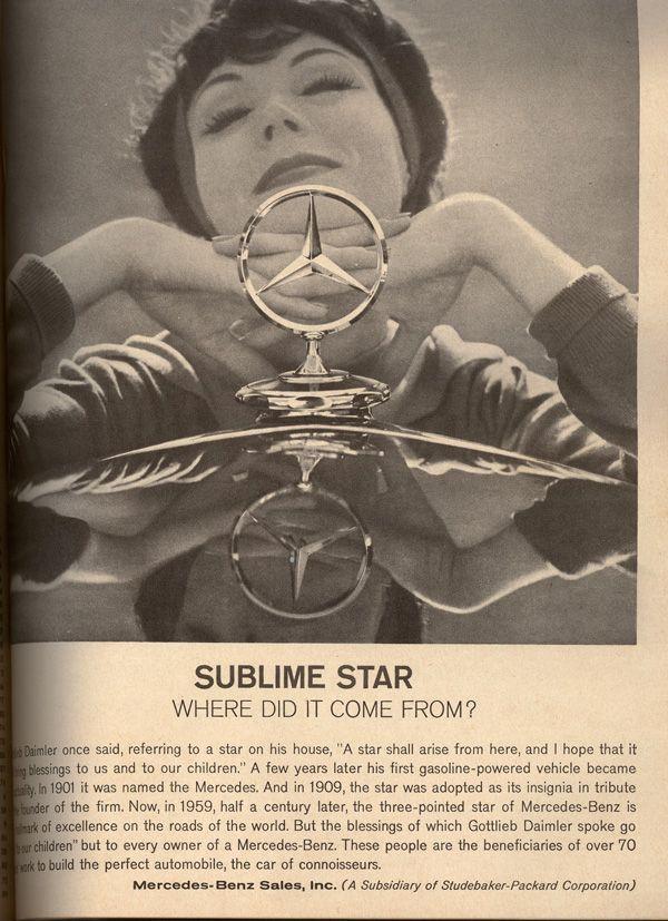 LOL...der Klassiker. :) 1969 Mercedes-Benz ad