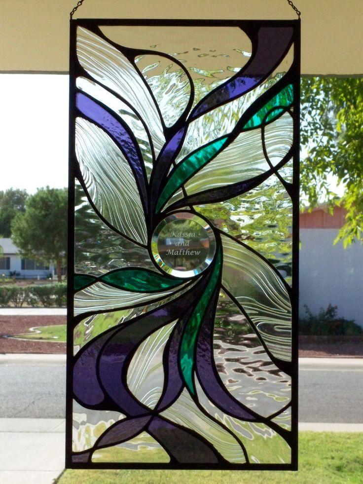 Wedding window for Kassia Castillo and Matthew Jones, built by Jeff Jones and Kassia Castillo. Designer unknown.