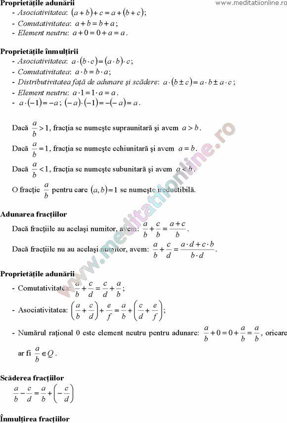 Formule matematica gimnaziu 5 8 Formule si teorie Algebra clasele 5 8 pagina 3