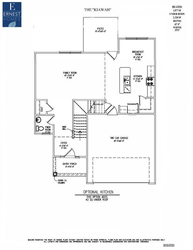 The Kiawah Floor Plan Ernest Homes Floor Plans Floor Plan Design Kiawah