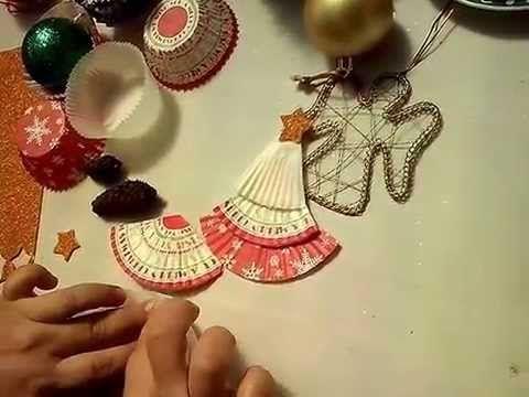 Arbol de Navidad con papelitos de Cup Cakes