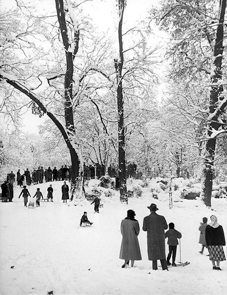 Milan. Public Gardens, 1953 c. Mario De Biasi