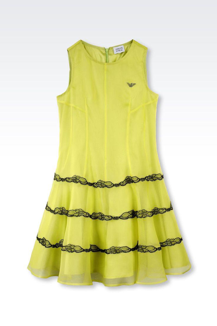 Robe Armani Junior - ROBE EN ORGANZA DE SOIE Armani Junior Online Store Officiel