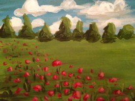 Poppy Field | Splash Studio Painting