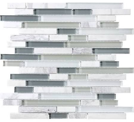 mosaic tile backsplash glass and marble - Google Search