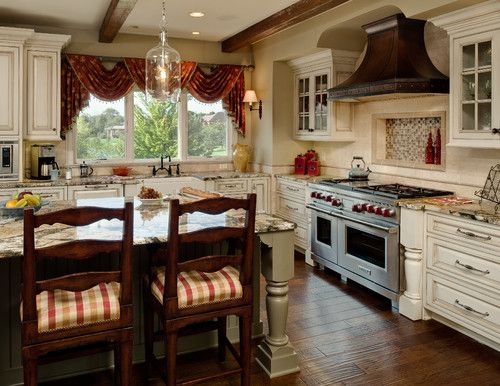 Simple but fancy country kitchen curtains elegant country for Fancy kitchen ideas