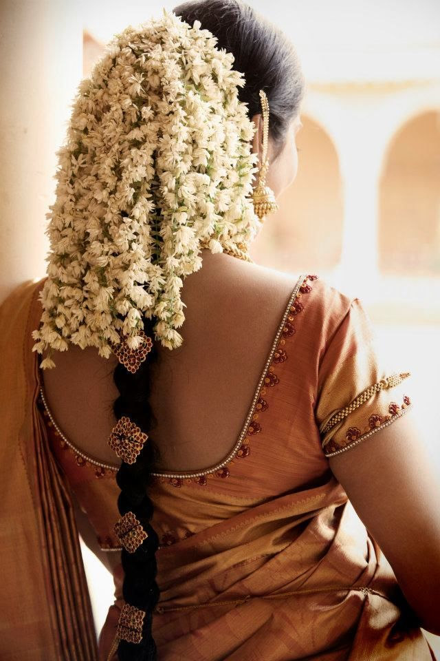for: bridal hairstyle with jasmine flowers