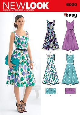 New Look 6020 will look fab with our Dot's So Cute poplin.