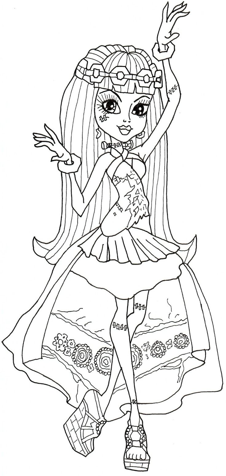 95 best monster high coloring pages images on pinterest coloring