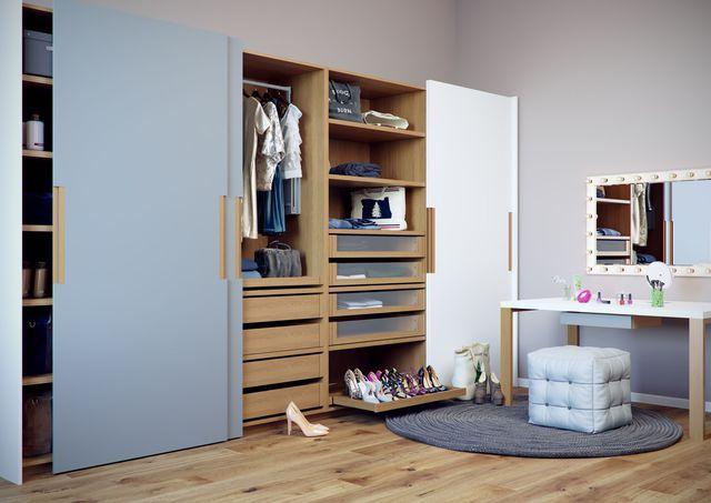 les 25 meilleures id es de la cat gorie dressing modulable sur pinterest dressing comble. Black Bedroom Furniture Sets. Home Design Ideas