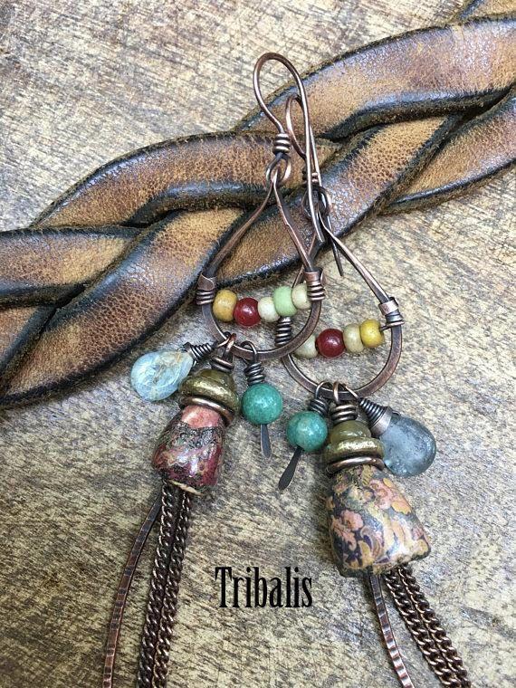 Primitive Rustic Jewelry Artisan 'Badulaques' Series
