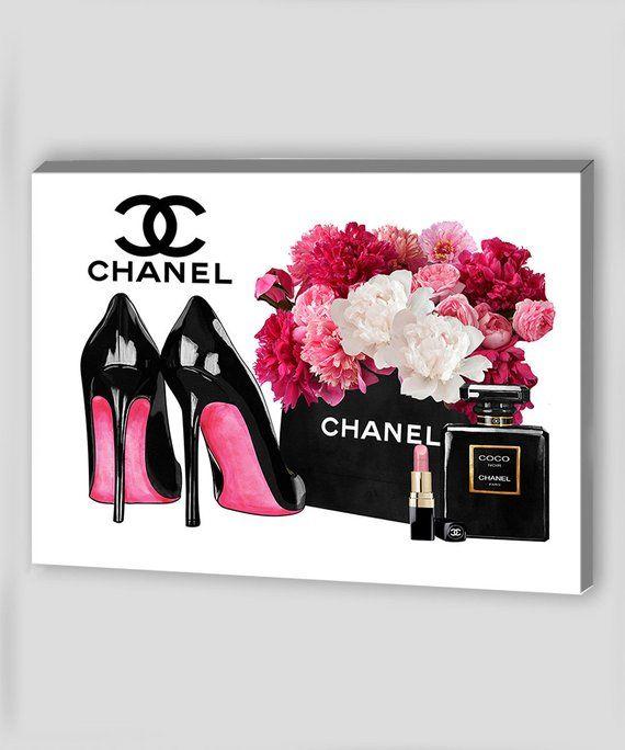 9634c0c6bc149 Fashion Wall Art Canvas Wall Art Canvas Art Chanel Wall Art Chanel ...