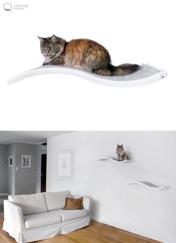 Cat perch, Shelf Wave, floating cat shelves, pet design, cat shelves, cat…