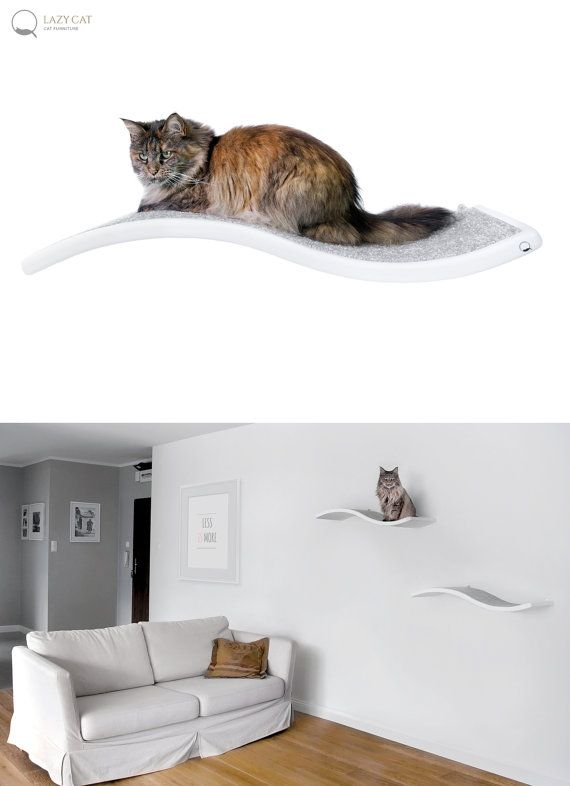 Cat perch, Shelf Wave, floating cat shelves, pet design, cat shelves, cat furniture, curve bed $128.76 USD