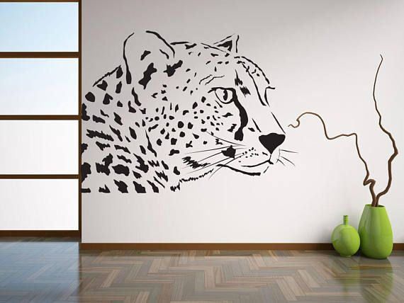 Leopard Wall Decal Wild Animal Wall Stickers Zoo Animal Wall - Zoo animal wall decals