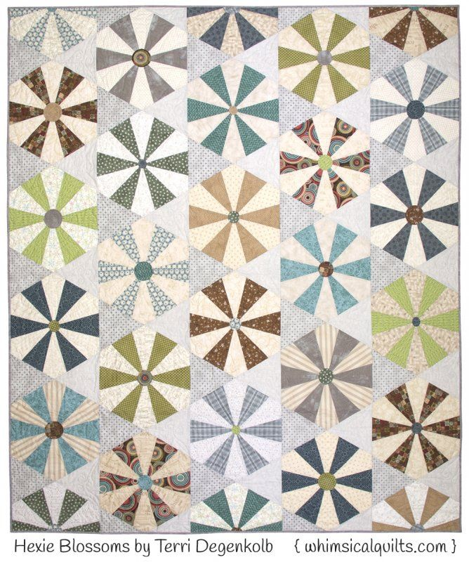 Hexie Blossoms Quilt Pattern By Whimsicals Whimsicals