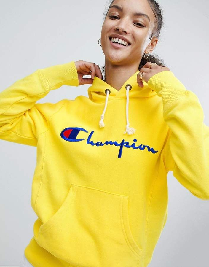 Champion Hoodie With Script Chest Logo