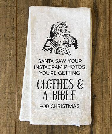Another great find on #zulily! Santa Instagram Tea Towel #zulilyfinds