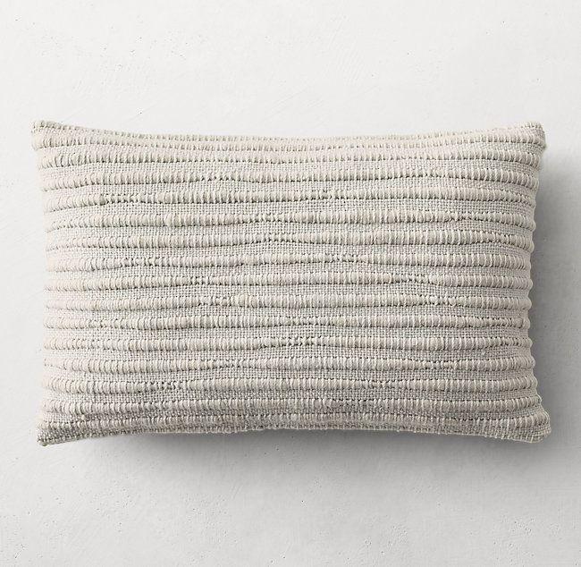 The ARK Collection   Pebble Grey Merino Pillows Lumbar