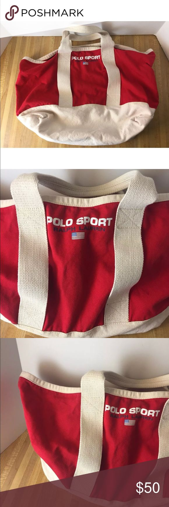 Vintage Polo Sport Ralph Lauren Red Tote Bag Carry RALPH LAUREN POLO PONY White RED THICK CANVAS TOTE BAG PURSE MINT   POLO RALPH LAUREN    White AND RED BIG PONY CANVAS TOTE   MINT CONDITION   HEAVY DUTY CANVAS   TRUE RALPH LAUREN Polo by Ralph Lauren Bags Totes