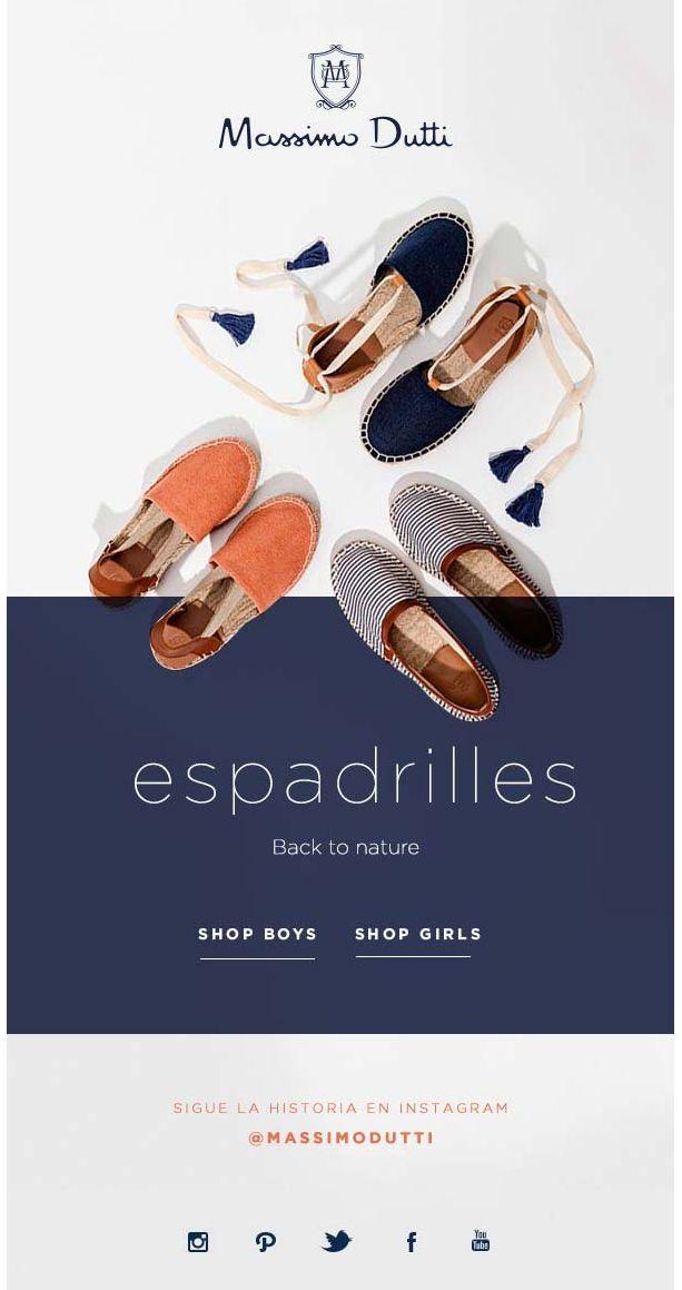 massimo dutti email design | Minimalistic, contrasting colour