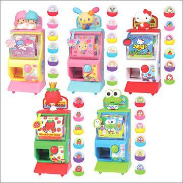 【2007】yujin sanrio hello kitty & friends mini machine ★ need keroppi, hello kitty, and sugar bunnies!